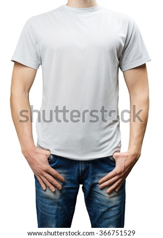 man dressed in a white T-shirt and jeans