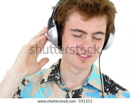Man Enjoying Music