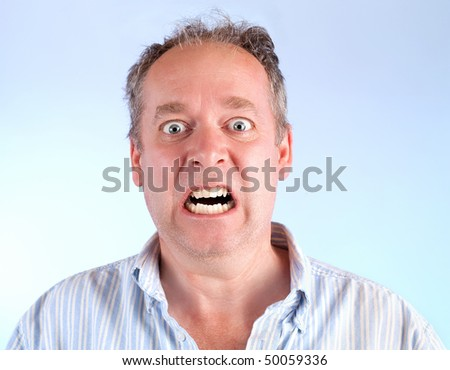 Man Enraged About Something - stock photo