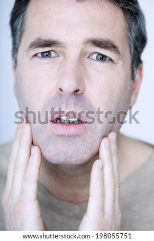 Man face - stock photo