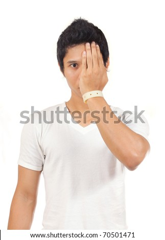 man face - stock photo