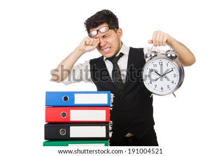 Man failing to meet his deadlines - stock photo