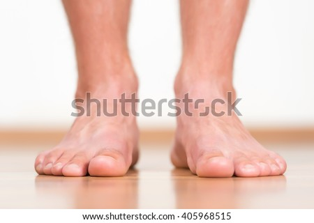 Man feet close-up