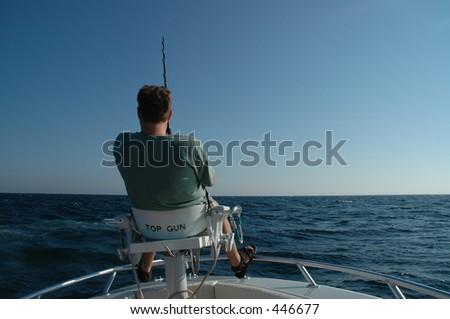 Man fishing - stock photo