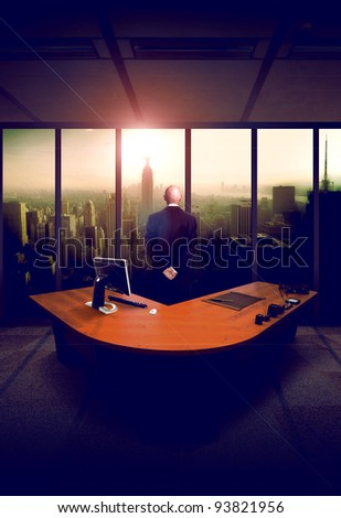 Man from back - stock photo