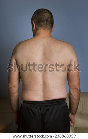 Man from the back in sport wear. - stock photo