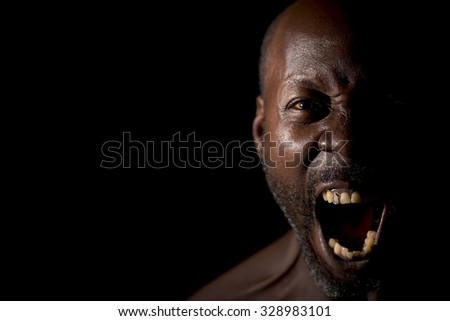 Man Frustrated and Shouting  - stock photo