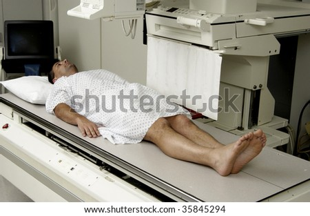 man getting xray