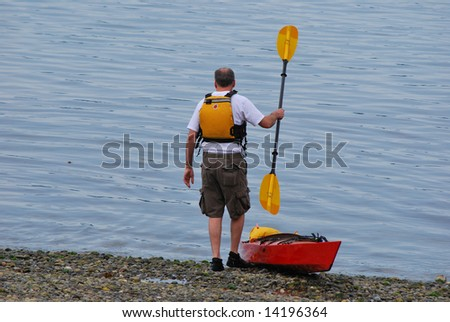 Man Going Kayaking