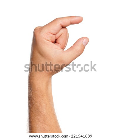 Man hand - stock photo