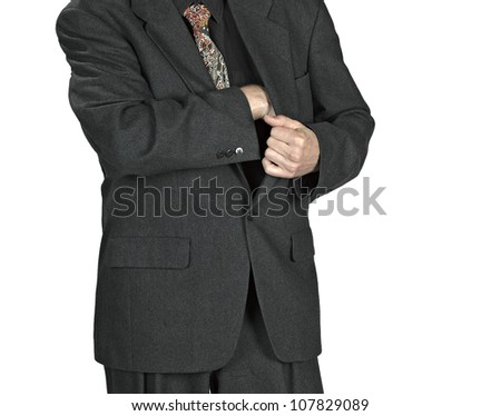 man hand holding a  leather wallet - stock photo