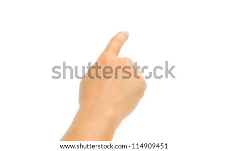 Man Hand Position Touching Screen