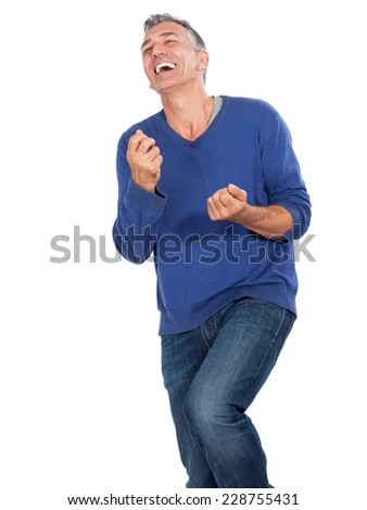 man Happy - stock photo