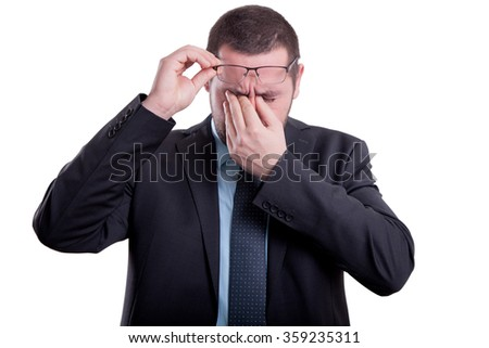 Man having a migrane - stock photo