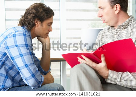 Man Having Counselling Session - stock photo