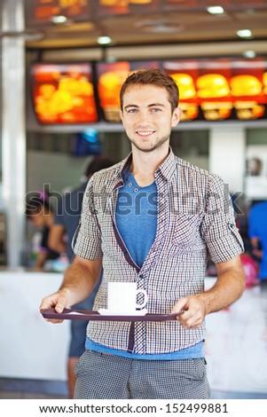 man having lunch - stock photo