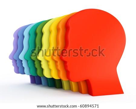 man heads - stock photo