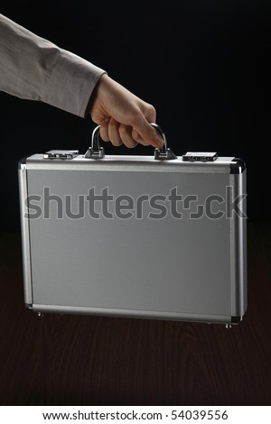 man holding a brief case