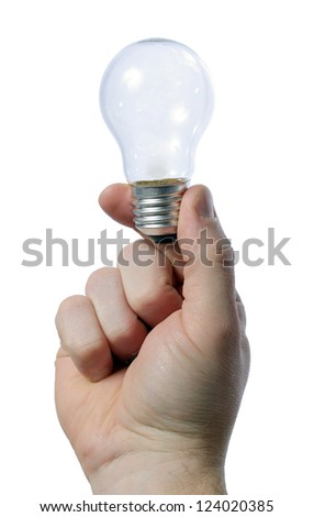 man holding light bulb in his hand - creativity concept