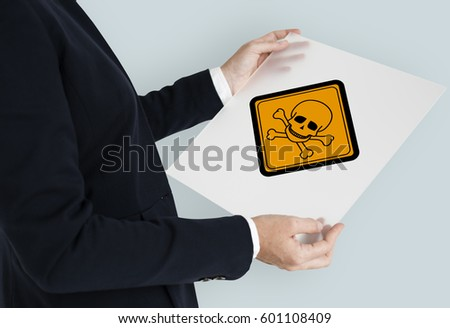 Man Holding Paper placard Death Sign