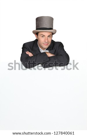 Man in a top hat - stock photo