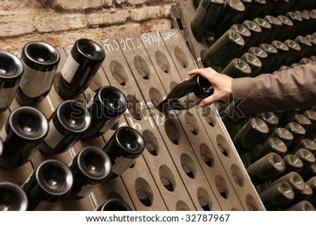 Man in a winery in Tbilisi, Georgia - stock photo