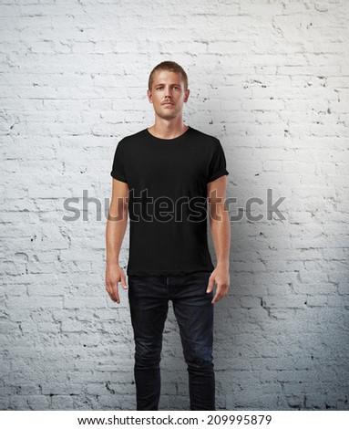 Man Black Tshirt Stock Images, Royalty-Free Images & Vectors ...