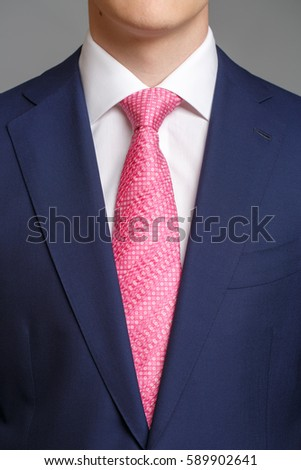 Black Suit Pink Tie Stock Photo 127395683 - Shutterstock