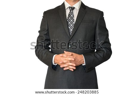 Man in business suit on white background
