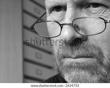 Man in Deep Thought - stock photo