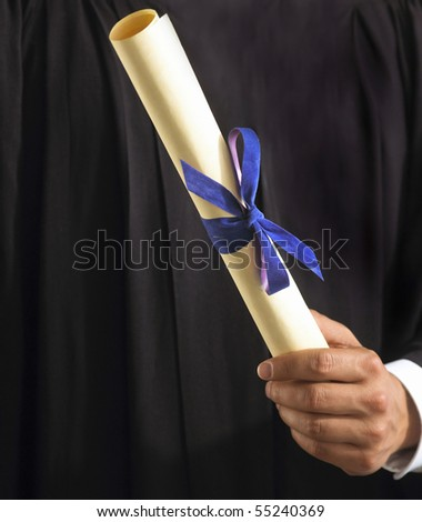man in graduation - stock photo
