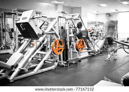 man in health club - stock photo
