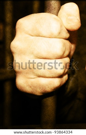 Man in jail - stock photo