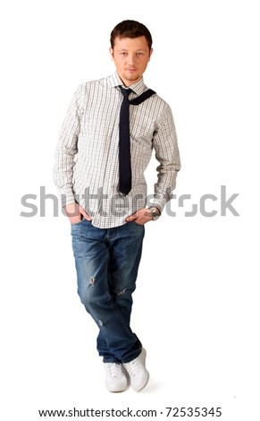 Man in jeans and tie
