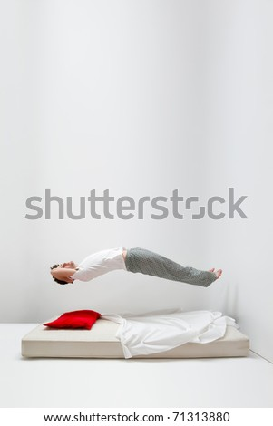Man in levitation - stock photo