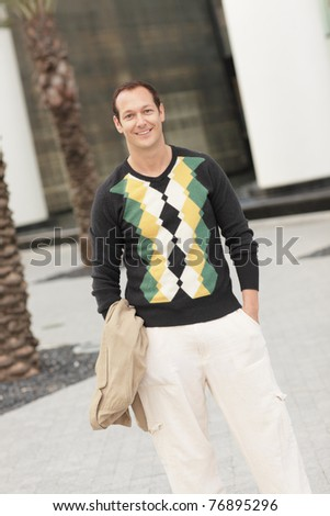 Man in modern fashionable clothing - stock photo