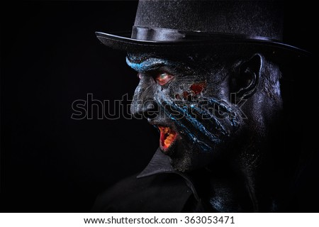 Man in monster makeup