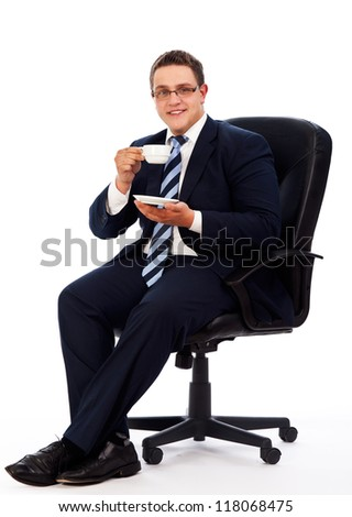 man in office