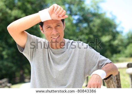 man in sports clothes - stock photo