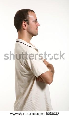 man in studio - stock photo