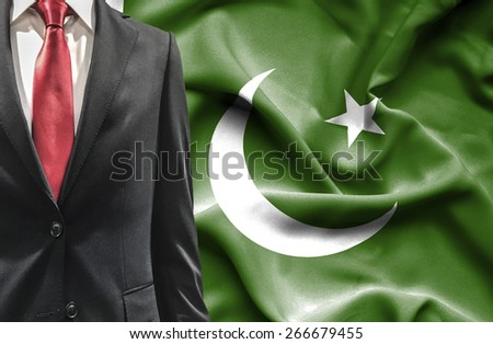 Man in suit from Pakistan - stock photo