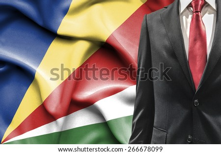 Man in suit from Seychelles - stock photo