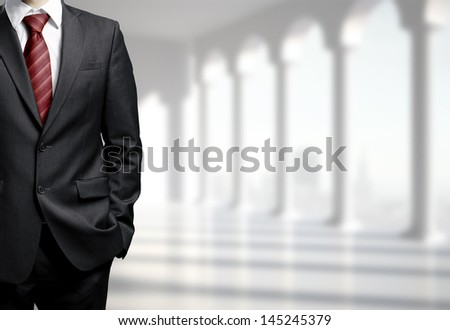 man in suit in office - stock photo