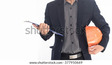 man in suit on a white background - stock photo