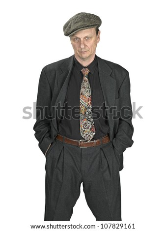 man in suits dress , bad attitude - stock photo