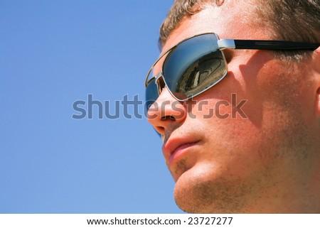man in sunglasses - stock photo