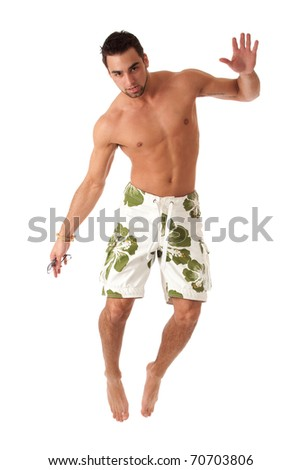 Man in Swimwear - stock photo