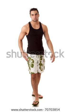 Man in Swimwear - stock photo