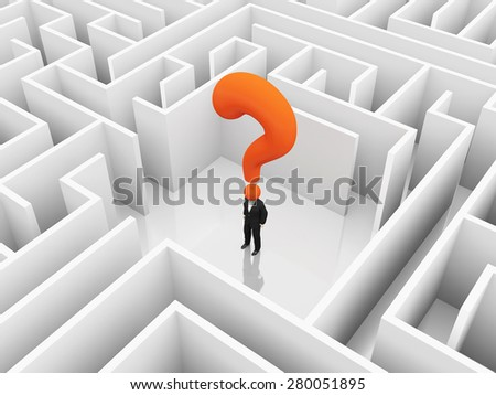 Man in the middle of a mysterious maze