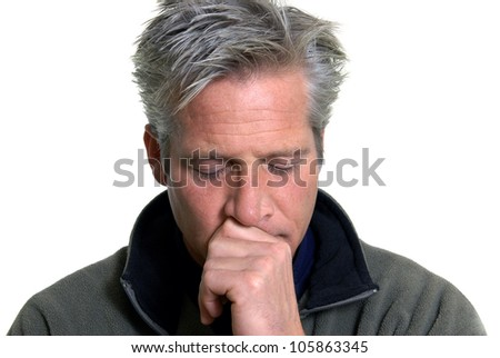 Man in Thought - stock photo